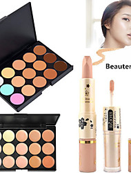 1PCS 15 Color 3in1 Professional Camouflage Natural Facial Concealer/Foundation/Bronzer Makeup Palette(2 Color Choose)