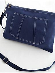 Women 's Canvas Envelope Shoulder Bag - Blue/Gray/Black