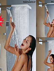 Thermostatic Bathroom Shower Faucet, Stainless Steel 304 Wall Mounted Chrome Waterfall And Rainfall Shower Head