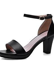 Women's Shoes Stiletto Heel Open Toe Sandals Office & Career/Dress Black/Red/White