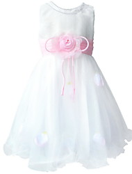 BHL Girl's Floral Dress Sleeveless Party Ball Dress Wedding Bridesmaid Dresses Pageant Party Dance Dress for SZ2~8Y