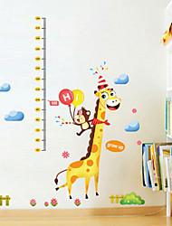 decalques de parede adesivos de parede, adesivos de parede cartoon christmas pvc girafa