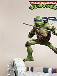 wall stickers Vægoverføringsbilleder, køligt Teenage Mutant Ninja turtles pvc væg sticker