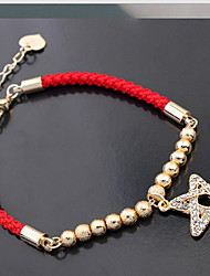 Women's European and American Fashion Lucky Red Rope- Five-Star Bracelet