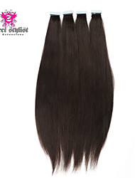 20pcs/lot Stock Dark Color Mongolian Remy Tape In Hair Extensions 20 inch Skin PU Weft Hair Extensions NEW!!!
