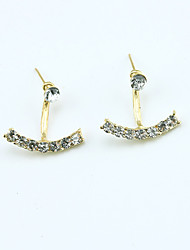 Stud Earrings Crystal Rhinestone Gold Plated 18K gold Simulated Diamond Fashion Gold Silver Jewelry 2pcs