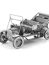 Creative 3D Laser Cute Models Metallic Ford Tin Lizzy Nano Puzzle - Silver