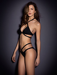 Europe And Solid Color Tie Bikini Swimsuit Sexy Lady