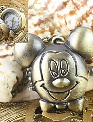 Mulheres Relógio de Bolso Quartzo Lega Banda Vintage Bronze Bronze