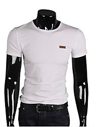 casual / sport pure korte mouwen regelmatige t-shirt voor mannen (katoen)
