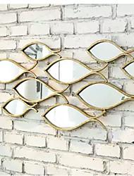 e-FOYER paroi métallique mur d'art, décor en forme de poisson miroir mural décor un pcs