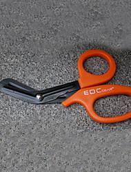 moda tesouras de salvamento de aço inoxidável com dentes finos / camping / kit de sobrevivência ao ar livre combinada (cor aleatória)