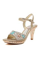 Women's Shoes  Kitten Heel Heels Sandals Casual Silver/Gold
