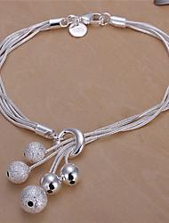 Lawei Women's Korean-style High Quality Simple Cute Silver-plated Bracelets
