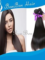 cabelo humano peruano tecer 3pcs retas