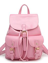 blanco / rosa / verde / negro - inleela®women 's pu casual / mochila al aire libre