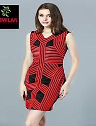 YIMILAN® Women's The New 2015 Heavy Spoke Spell Color Dress