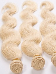 3Pcs Lot Top Quality Brazilian Virgin Hair Body Wave Light Blonded 613 Color Human Hair Weaves/Weaving