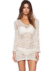 Women's Crochet Lace Beach Swimsuit Dress