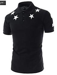 JESUNLOM®Man's Polo Shirt Fashion Short Sleeve Print Slim T-Shirt Korean Style Summer Casual Sport Polo Shirt