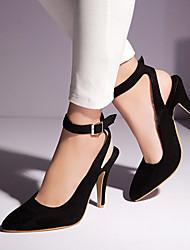 Черный / Синий / Бордовый - Женская обувь - Для офиса / Для праздника / На каждый день - Дерматин - На шпильке -На каблуках / С острым
