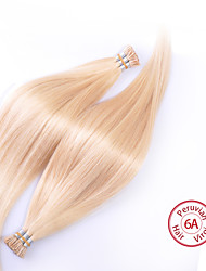EVET Peruvian Straight Virgin Hair Peruvian Silky Straight I Tip Hair Extensions Human Hair 100g/pc
