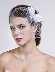 Women Fabric/Net Birdcage Veils With Multi-stone Wedding/Party Headpiece