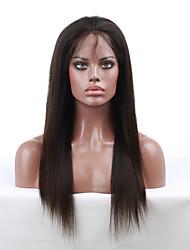 10 '' - 24 '' шелковистые прямые плотность 130% индийские Remy девственной человеческие волосы парики полные парики шнурка с ребёнком