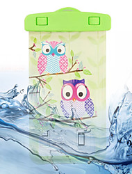 Two Owls Pattern Transparent Waterproof Touchscreen for Samsung Galaxy Note 4 / Note 3 / Note 2