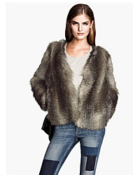 Women's Elegant Faux Fur Winter Jacket Warm Thickening Coat