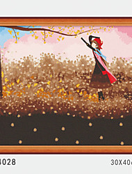 DIY Digital Oil Painting With Solid Wooden Frame Family Fun Painting All By Myself    Late Autumn 4028