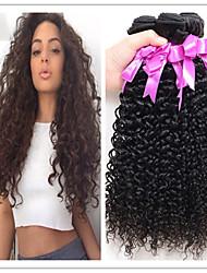 3Pcs/Lot  Afro Kinky Curly Brazilian Virgin Hair Brazilian Deep Curly Virgin Hair Virgin Brazilian Curly Hair bundles