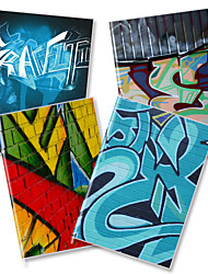 X - BOOK  A5-96 the High-grade Frosted Rubber Lining Notebooks (Graffiti) (4 Books Per Pack)   A5-96-JT-021