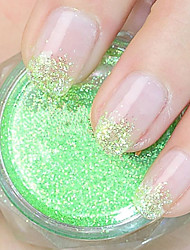 Grass Green Glitter Powder Nail Art Decorations