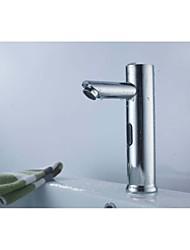 puissance de la batterie de bains aaaa automatique du capteur sans contact robinet d'eau chaude mélangeur froid robinet évier robinet