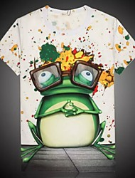 Men's High Quality Personality  Summer Breathable 3D Style T-shirt—— The Frog