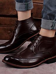 Scarpe da uomo Casual Di pelle Stivali Nero/Marrone/Giallo