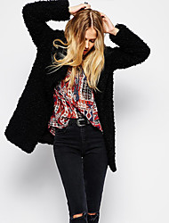 Women's Coats & Jackets , Faux Fur Casual XT