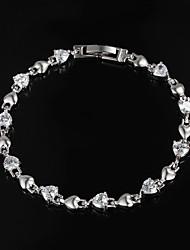 vendita limitata partito platino placcato link / gioielli catena braccialetto tous