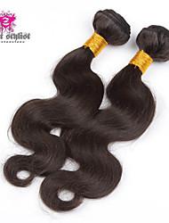 3pcs много 8-26 дюймов 5a необработанные бразильского Виргинские волос на теле волнистые человеческих волос натуральный черный волос ткать