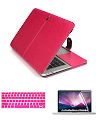 "Luxury Leather 3 in 1 Full Body Cases with Keyboard Flim and HD Screen Protector for Macbook Air 13.3"" (Assorted Colors)"