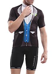 Tops/Shorts ( Rojo/Negro/Azul ) - Transpirable/Alta transpirabilidad/Permeabilidad a la humeda/Secado rápido/Compresión - de Ciclismo - de