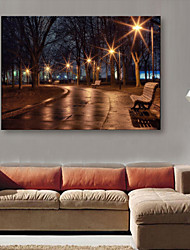 E-HOME® Stretched LED Canvas Print Art  Street Lamp Wonderland LED Flashing Optical Fiber Print