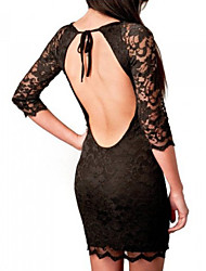 Women's Sexy Bodycon Beach Casual Party Lace Mini Dress