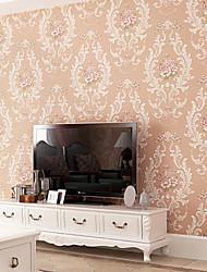 novo arco-íris ™ retro wallpaper art deco tan parede o romance pastoral que abrange a arte de não-tecidos da parede da tela