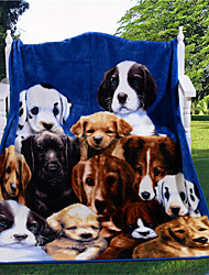 Lovely Dogs Faux Fur Throw 3D Blanket Coverlet and Plaids for Family Super Soft Warm New Top Design Quantity Limited