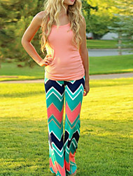 Women's Print Multi-color Loose Pants , Casual/Print