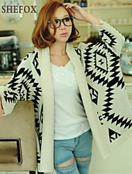Women's Casual Stretchy Medium Long Sleeve Cardigan (Knitwear) SF7C26