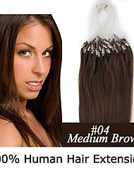 3 Satz 18 Zoll remy Mikroring / Schleifenhaar 0,5 g / s Echthaar Haarverlängerungen 18 Farben für Frauen Schönheit
