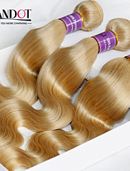 "3 Pcs Lot 12""-30"" Platinum Bleach Blonde 613 Virgin Hair Peruvian Body Wave Remy Human Hair Weave Bundles Machine Wefts"